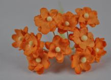 ORANGE CHERRY BLOSSOM Mulberry Paper Flowers